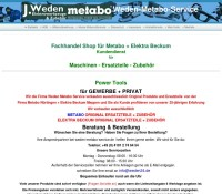 Vedas Spare parts for Metabo and Elektra Beckum Parts German online store