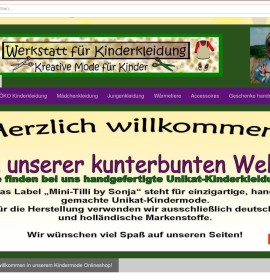 Workshop for children's clothes German online store