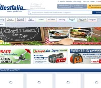 Westfalia Germany – mail order specialist for tools, electronics, home and garden, car accessories and agriculture German online store