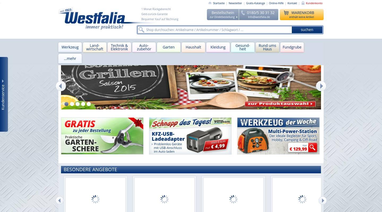 westfalia germany mail order specialist for tools. Black Bedroom Furniture Sets. Home Design Ideas