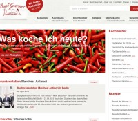 www.buchgourmet.com – The cookbook specialist: New and antiquarian cookbooks from all over the world all about cooking food drink wine German online store