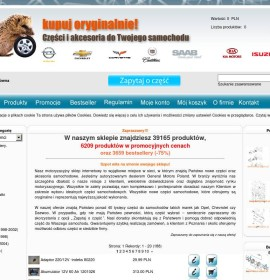 The automotive online shop Polish online store