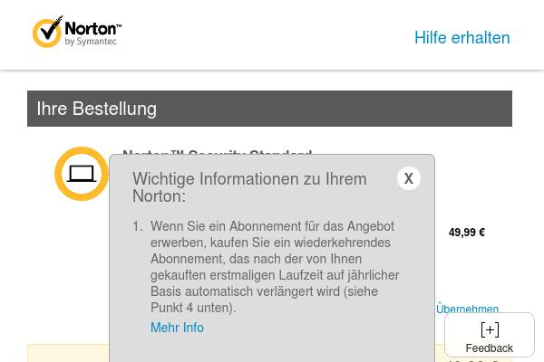 DE Promo - Norton Security Standard 1Jahr