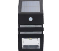 Outdoor Solar Powered LED Security Light – 5.5V Polycrystalline Solar Panel, Motion Detection,  IP44, 50 lumens (Black) – Chinavasion Wholesale Electronics & Gadgets –